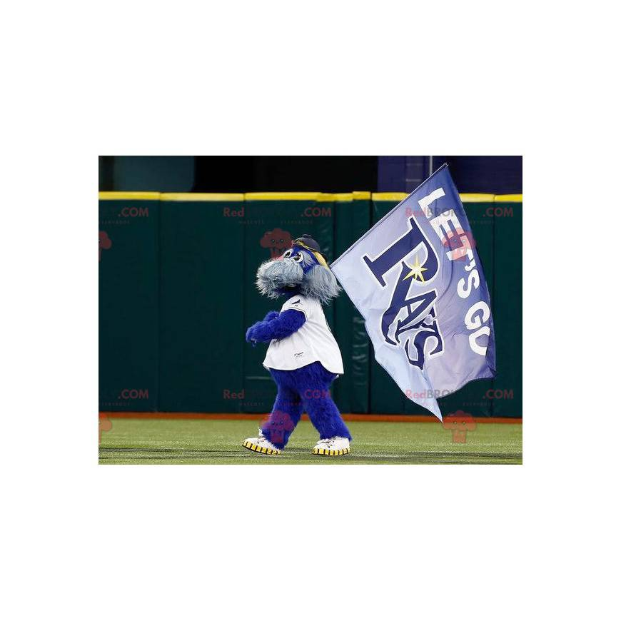 Team Rays mascot blue and gray dog all hairy - Redbrokoly.com
