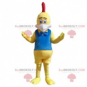 Żółty kurczak maskotka, kostium wielkiego koguta -