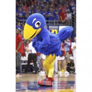 Mascote pássaro gigante azul e branco - Redbrokoly.com