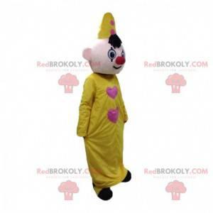 Mascotte de clown, de personnage de cirque, costume de cirque -