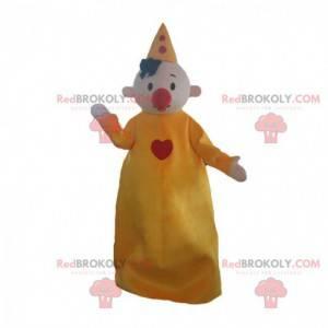 Maskot klaun, cirkusová postava, cirkusový kostým -