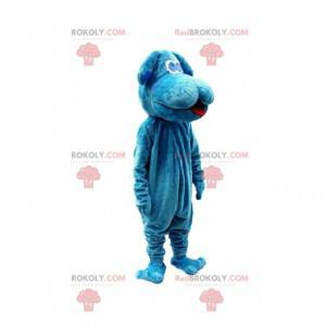 Big plush blue dog mascot, doggie costume - Redbrokoly.com