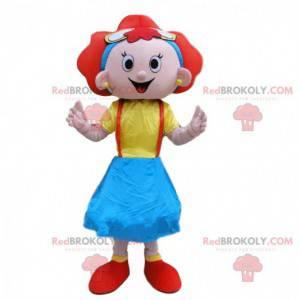 Maskotka rudowłosa dziewczyna, kostium dla dzieci -