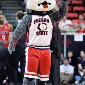 Mascote cão bulldog cinzento - Redbrokoly.com