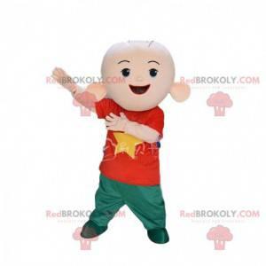 Young boy mascot, very fun child costume - Redbrokoly.com