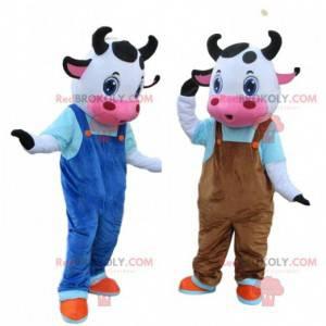2 maskoti krávy, farmářské kostýmy - Redbrokoly.com
