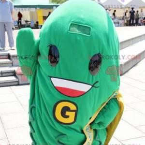 Mascote de feijão verde picles de vegetais verdes -