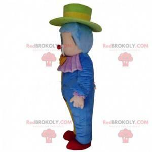 Buntes Clownmaskottchen, Zirkuskostüm, Akrobat - Redbrokoly.com