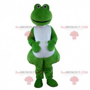 Grünes und weißes Froschmaskottchen, Krötenkostüm -