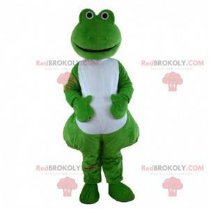 Green and white frog mascot, toad costume - Redbrokoly.com