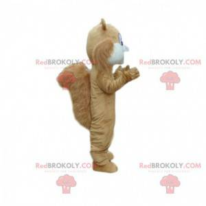 Brown and white squirrel mascot, forest costume - Redbrokoly.com