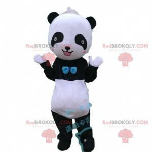Schwarz-Weiß-Panda-Maskottchen, Schwarz-Weiß-Bären-Maskottchen