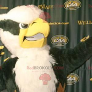 Mascote coruja-águia preto e branco - Redbrokoly.com