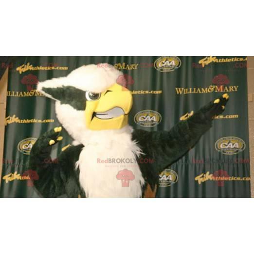 Black and white eagle owl mascot - Redbrokoly.com