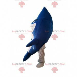Maskot žralok modrý a bílý, mořský kostým - Redbrokoly.com