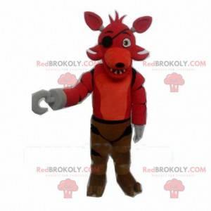 Maskottchen des roten Wolfes, Piratenhundekostüm -