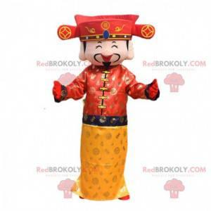 Kostium cesarza, maskotka azjatyckiego mężczyzny -