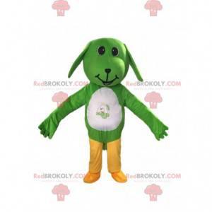 Zelený a bílý pes maskot, psí kostým - Redbrokoly.com
