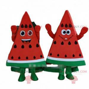 Maskoti obřích plátků melounu, melounové kostýmy -