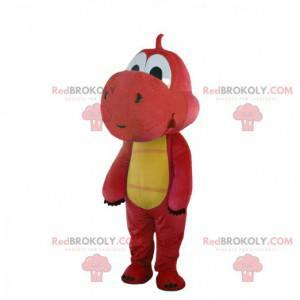 Yoshi maskot slavného červeného a žlutého draka videohry -