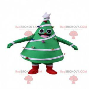 Mascot decorated and festive green tree, Christmas tree costume
