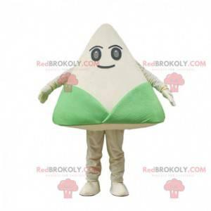 Zongzi costume, traditional Chinese green and white dish -