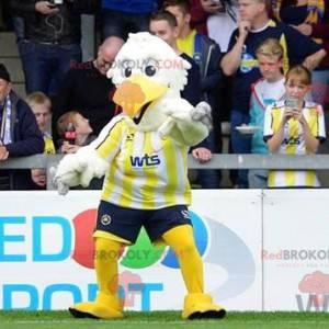 White and yellow bird mascot - Redbrokoly.com