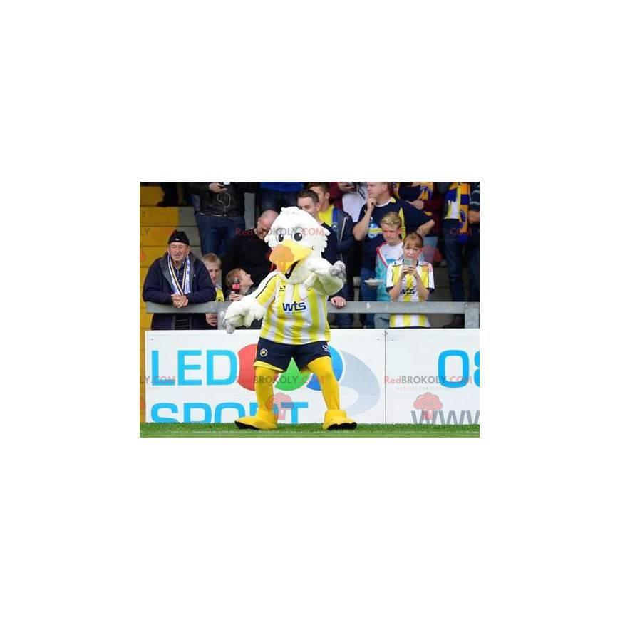 Bílý a žlutý pták maskot - Redbrokoly.com