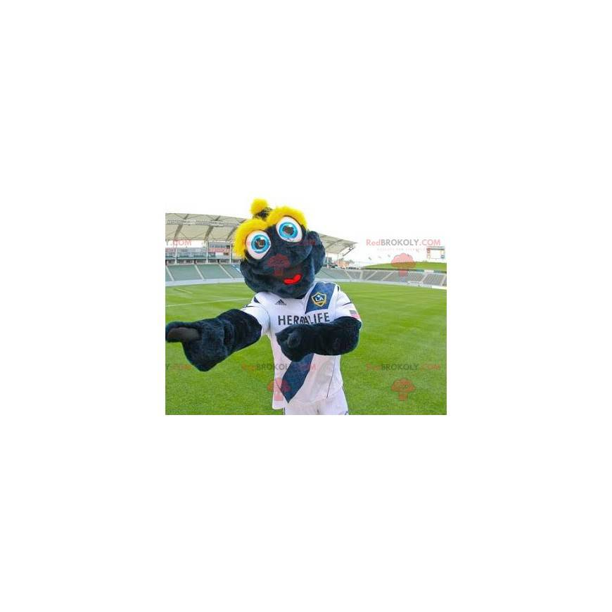 Modrá a žlutá žába maskot - Redbrokoly.com