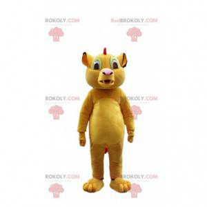 """Mascot Simba, famous lion from the cartoon """"The lion king"""" -"""