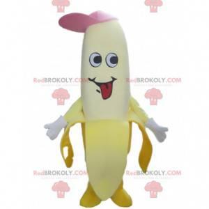 Banan maskotka z czapką, gigantyczny kostium owoc -