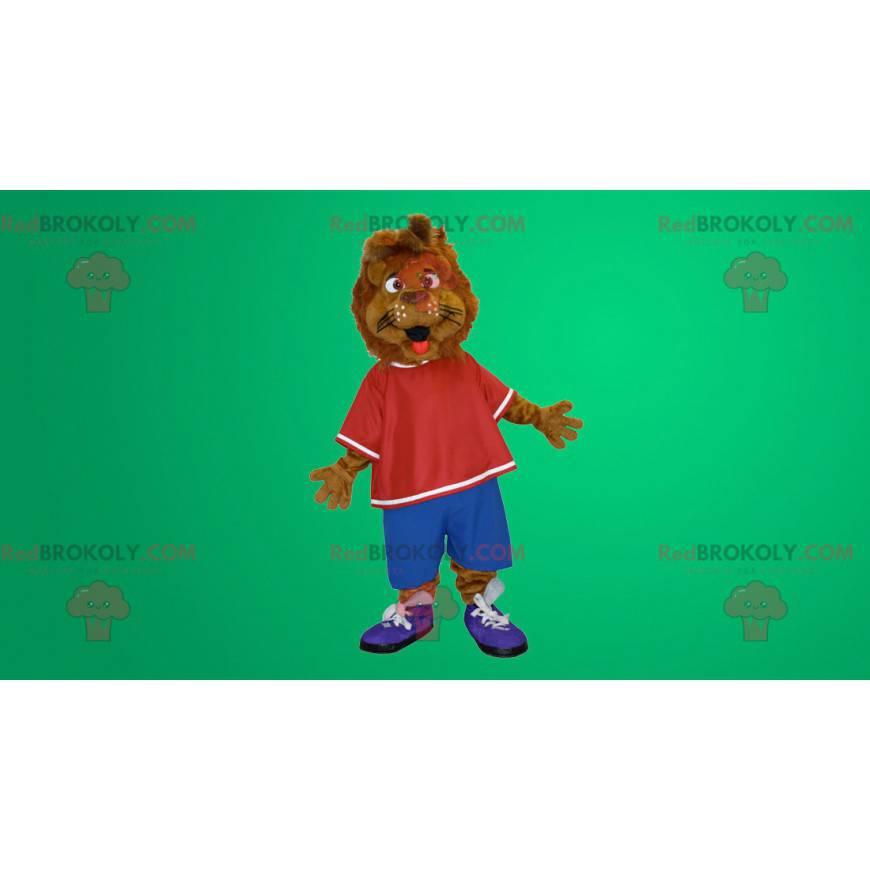 Brun løve tiger maskot - Redbrokoly.com