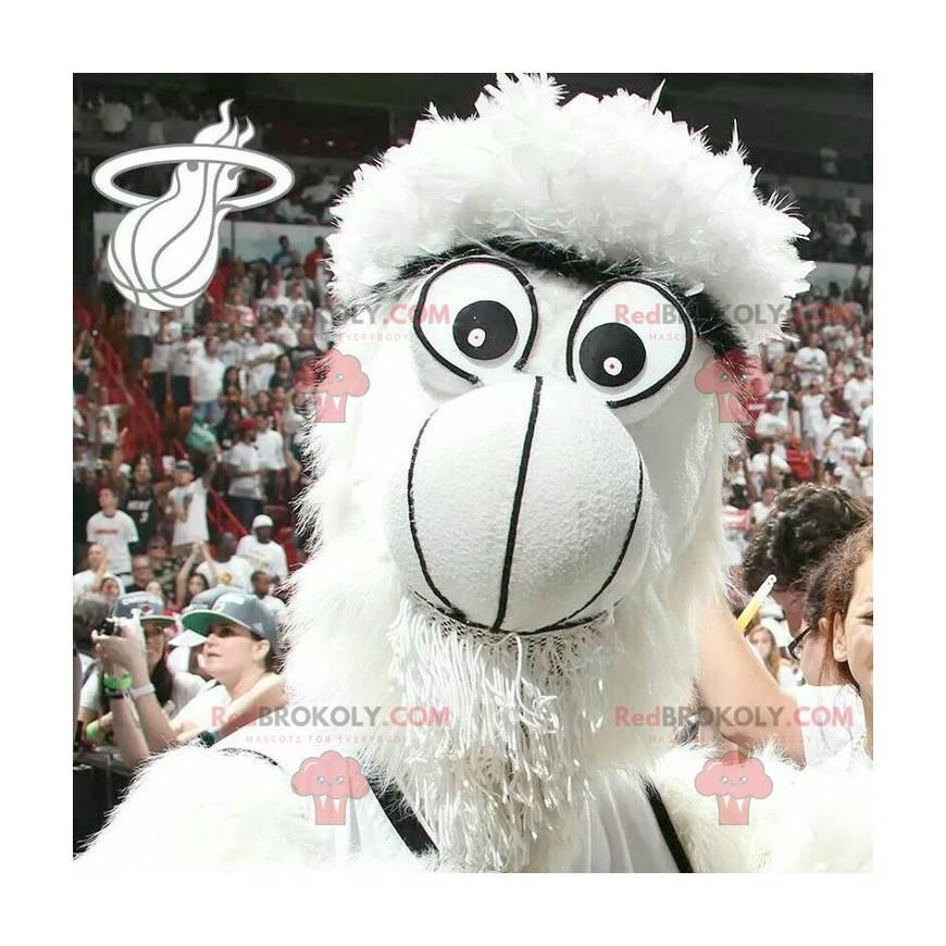 All hairy white monster yeti mascot - Redbrokoly.com