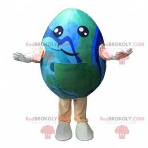 Maskot obří vejce v barvách planety Země - Redbrokoly.com