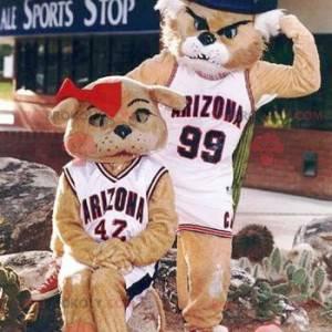 2 tiger mascots: a male and a female - Redbrokoly.com