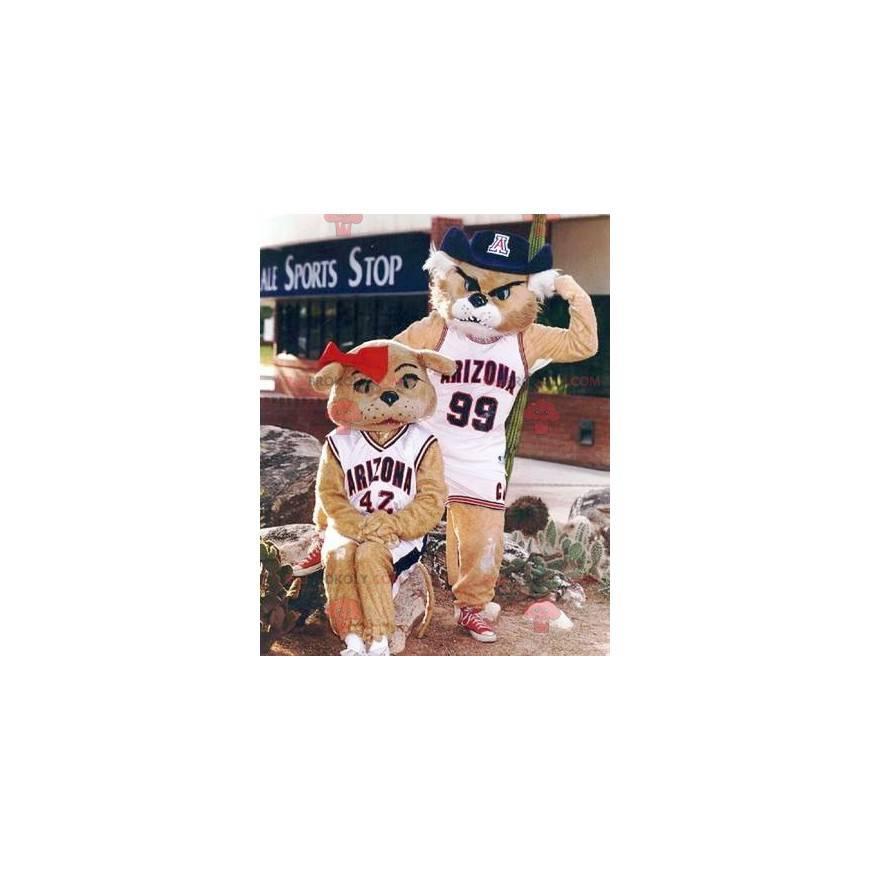 2 maskoti tygrů: muž a žena - Redbrokoly.com