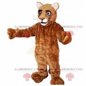 Giant puma mascot, brown feline costume, tiger - Redbrokoly.com