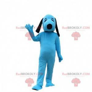 Mascotte blu Snoopy, famoso cane dei cartoni animati -