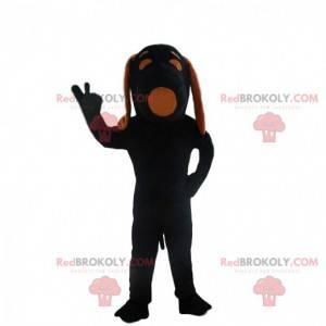 Mascot Black Snoopy, famoso perro de dibujos animados -