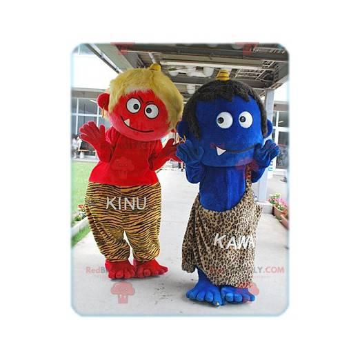 2 Cro-Magnon mascots of little monsters - Redbrokoly.com