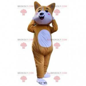 Orange and white fox mascot with pink cheeks - Redbrokoly.com