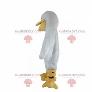Mascote pelicano, fantasia de gaivota, grande ave marinha -