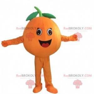 Riesiges Orangenmaskottchen, Orangenfruchtkostüm -