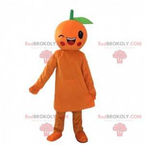 Mrkající obří oranžový maskot, ovocný kostým - Redbrokoly.com