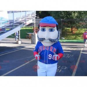Mascota de hombre bigotudo con ojos azules - Redbrokoly.com