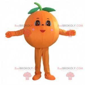 Pomarańczowa maskotka żeńska, kostium klementynki -