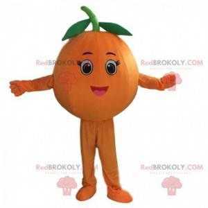 Olbrzymia pomarańczowa maskotka, kostium klementynki -