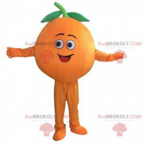 Riesiges orangefarbenes Maskottchen, Clementinenkostüm -
