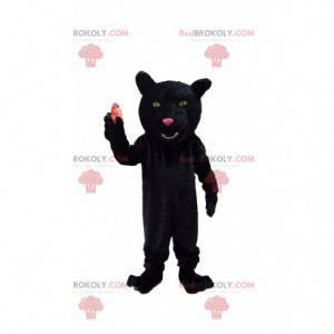 Black panther mascot, black feline costume - Redbrokoly.com