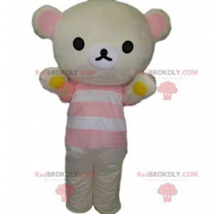 Maskot obřího ledního medvěda, kostým bílého medvídka -